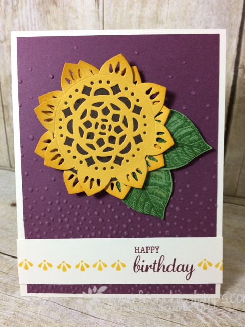 Eastern Beauty, Eastern Palace, Sunflower,  Stampin'Up!