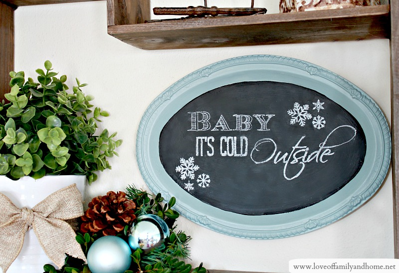 0af691d683a6 Dollar Store Tray Chalkboard (Dollar Store Decorating) - Love of ...
