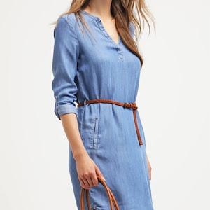 e692178994be4 Robe chemise en jean bleu Esprit