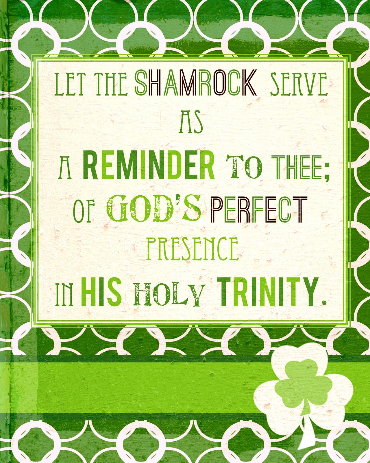 St Patty S Preview Shamrock And The Trinity