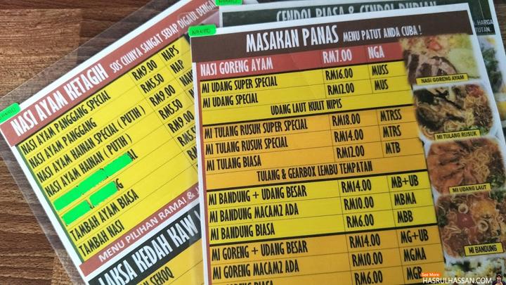 Makan Makan Cendol Durian dan Cendol Pulut Merah Restoran Mat Top
