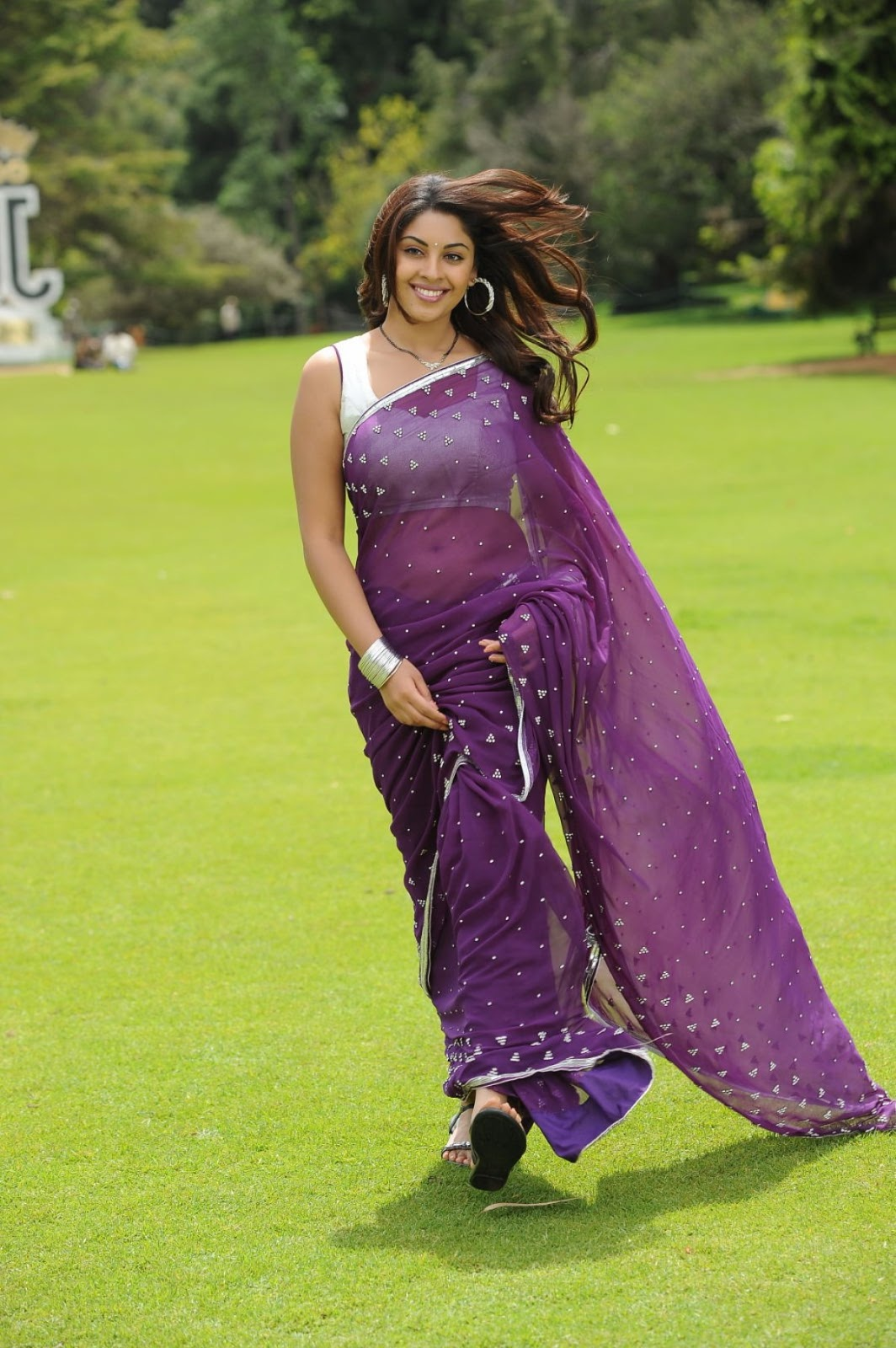 Tamilcinestuff   Richa Gangopadhyay In Saree Hot -1488