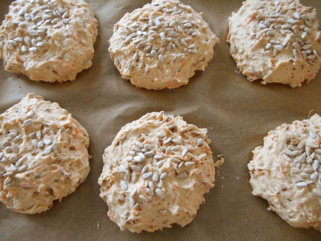 Panini con farina di grano saraceno e farina di mais
