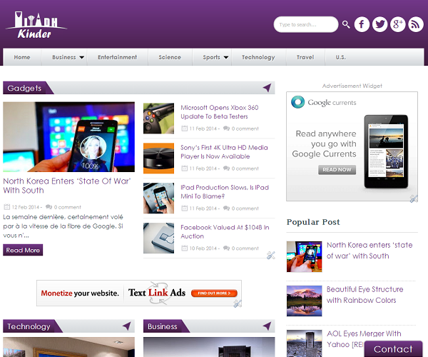 Kinder - Responsive Blogger Template