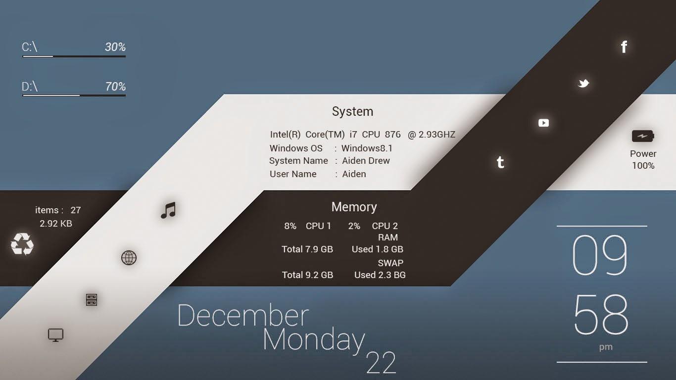 Fall Desktop Wallpaper Pinterest Minimal Widget For Rainmeter Windows10 Themes I