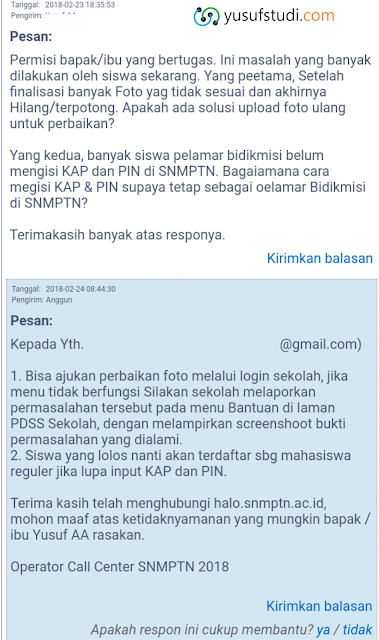 Solusi Foto Salah SNMPTN 2018