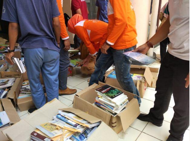 Coba Geh Hari Pertama Matic Pustaka Pringsewu Mendapatkan Hibah Buku dari UPT Perpustakaan Universitas Lampung