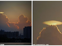 Awan Berbentuk UFO Terlihat Di Foshan