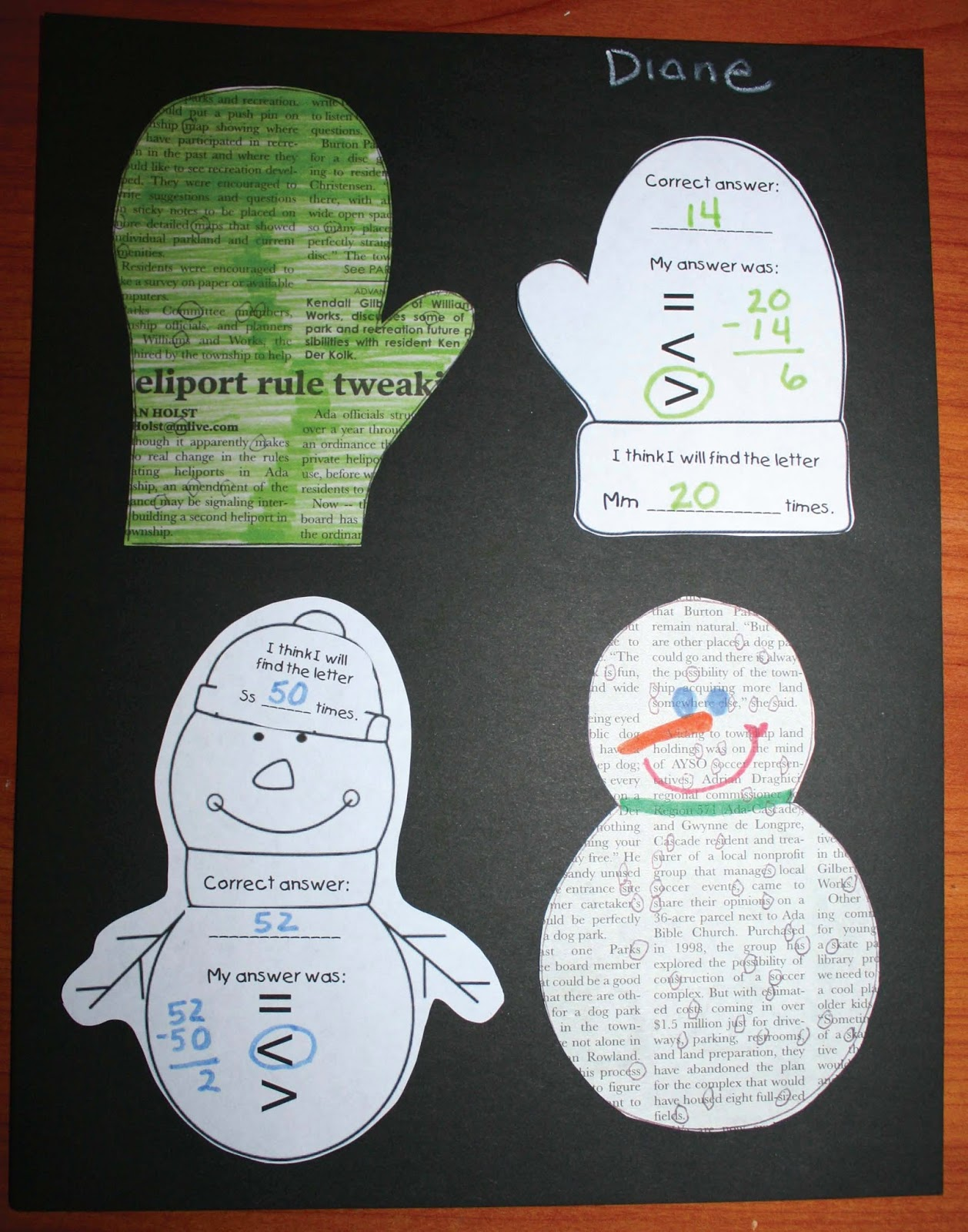 Mitten And Snowman Math With Literacy Craftivity