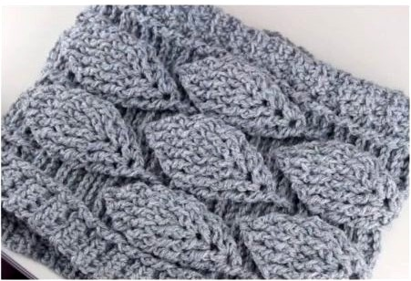 Ergahandmade Crochet Leaf Stitch Cowl Free Pattern Video Tutorial