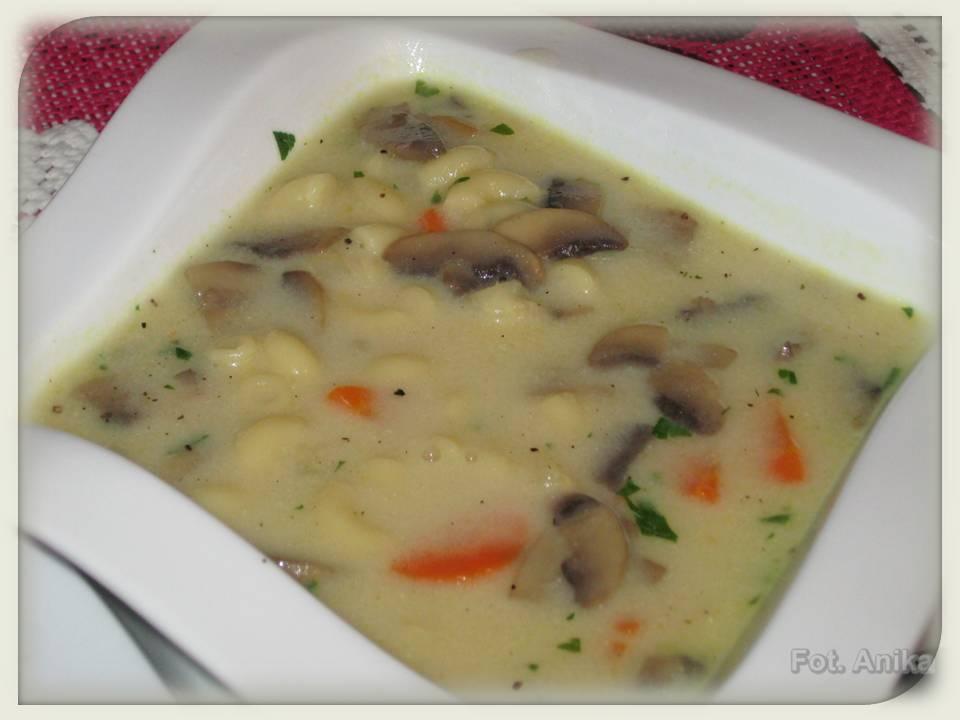 Domowa Kuchnia Aniki Zupa Pieczarkowa Z Makaronem