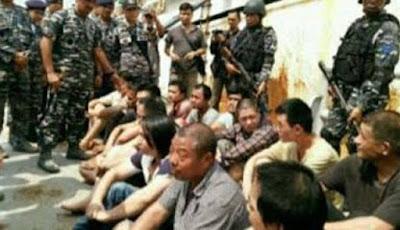 TNI-AL Tangkap dan Tembak 1 ABK Kapal Asal Tiongkok