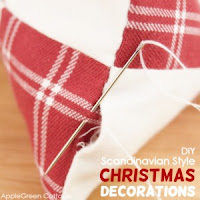 Scandinavian style DIY Christmas decor