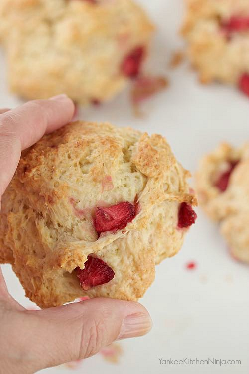 Easy fresh strawberry breakfast biscuits