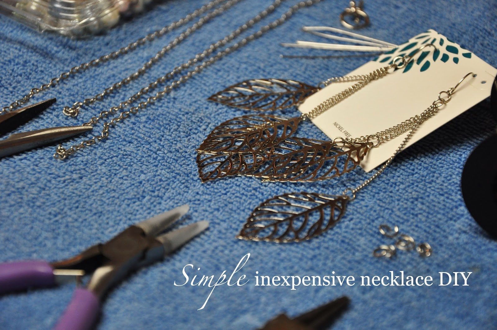 inexpensive DIY necklace @ Hickory Ridge Studio