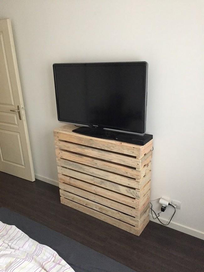 20 Pallet Tv Cabinet 100 Reclaimed Pallets Pallets Platform