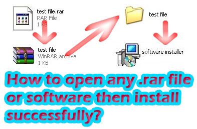 How To Open Any rar File or Software Then Install Successfully