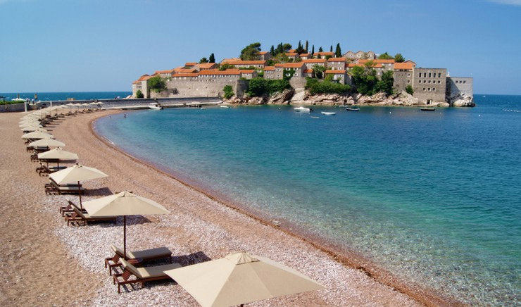 33 Amazing Beaches From Around The World - Sveti Stefan, Budva, Montenegro