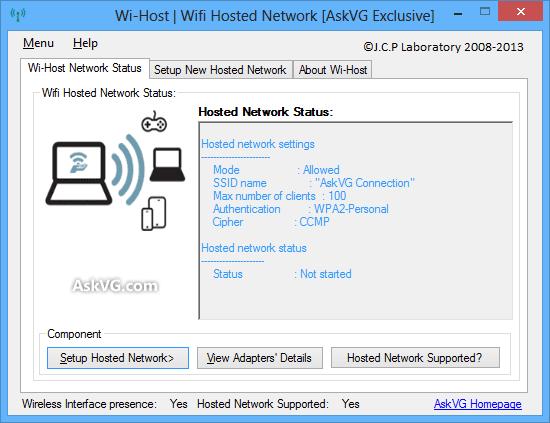 البرنامج Wi-Host