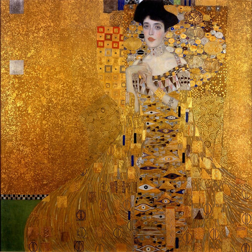 Retrato de Adele Bloch-Bauer - Gustav Klimt e suas pinturas ~ Pintor simbolista austríaco