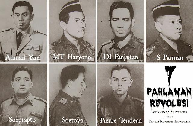 Hasil gambar untuk 7 pahlawan revolusi