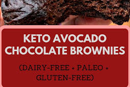 Flourless Keto Avocado Chocolate Brownies (Dairy-Free + Paleo + Gluten-Free)