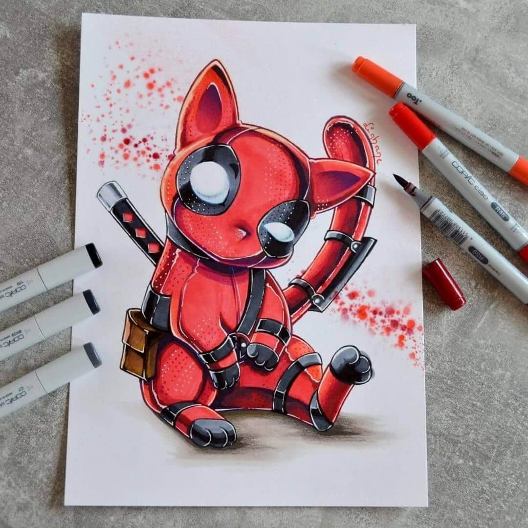 Deadpool Catpool by Lisa Saukel