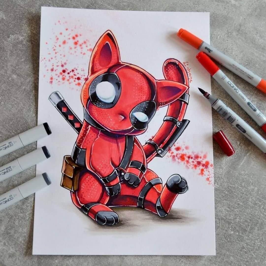 Deadpool Catpool by Lisa Saukel