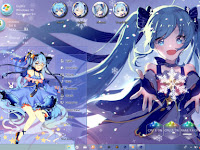 Snow Miku Theme Win 10 Ver. 1809 by Enji Riz Lazuardi