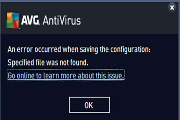 How to fix AVG An Error Occurred When Saving The Configuration Specified File was Not Found - Cara mengatasinya