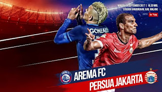 Prediksi Arema FC vs Persija Jakarta - Liga 1 Minggu 24/9/2017