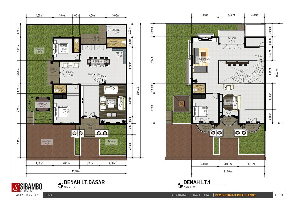 42 Desain Rumah 15 X 20 Terkeren Parkiran Desain