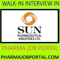 SUN PHARMA LTD Walk In Interviews For Multiple Openings at 30 Sep