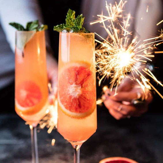 Blood Orange Champagne Mule #NewYear #Cocktails
