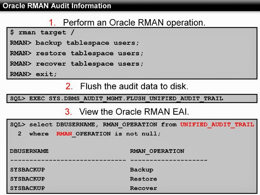 flush command in oracle