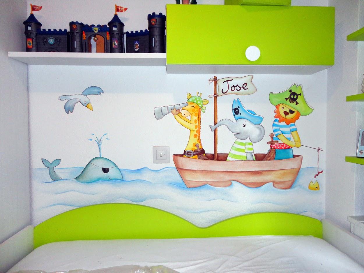 Decopared murales infantiles de piratas para los peques - Decorar paredes ninos ...