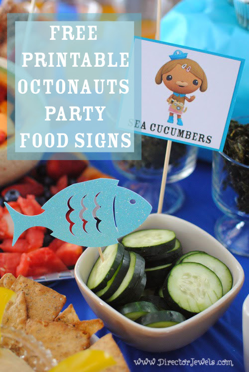 Octonauts Party Food Signs Free Printable