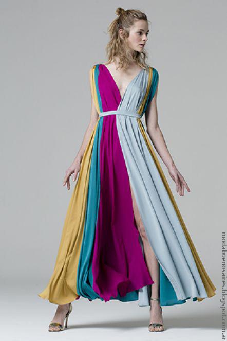 Vestidos primavera verano 2017 Evangelina Bomparola. Moda primavera verano 2017 vestidos.
