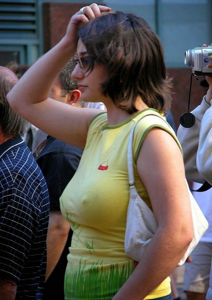 Public nipples wife see through