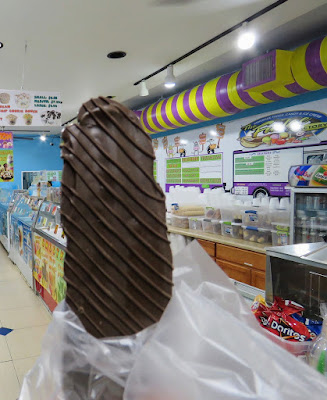 Chocolate covered bacon from the Fudge Factory of St. Armand's in Sarasota, Florida