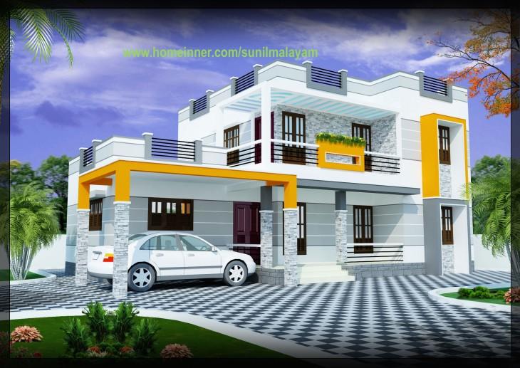 2000 sq ft 3 bhk modern house design for Design 2000
