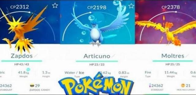 [RUMOR] Suposto vazamento de Pokémon GO mostra os Pokémon lendários.