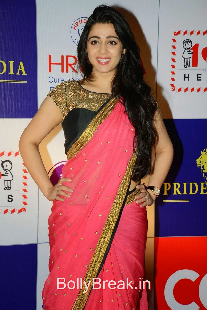 Charmi Kaur Latest Hot Pics In Saree From Ccl Charity -1248