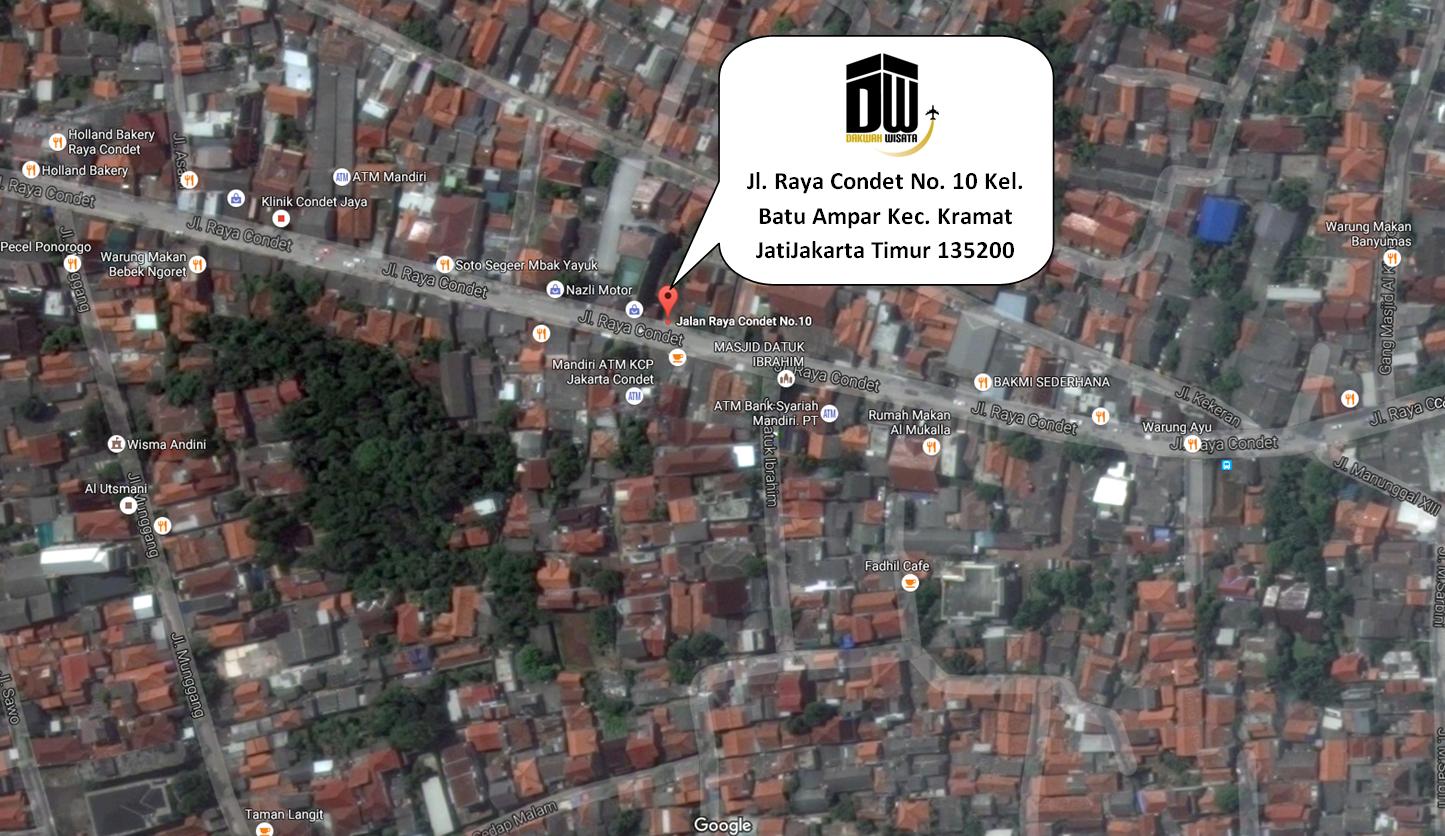 Alamat Travel Dakwah Wisat Jakarta