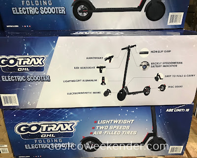 Costco 1305140 - Save on gas for our car when going short distances with the Gotrax GXL Folding Electric Scooter