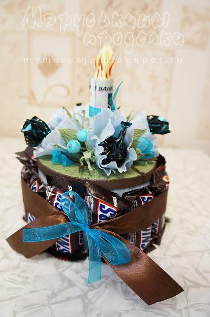 подарочный торт из конфет