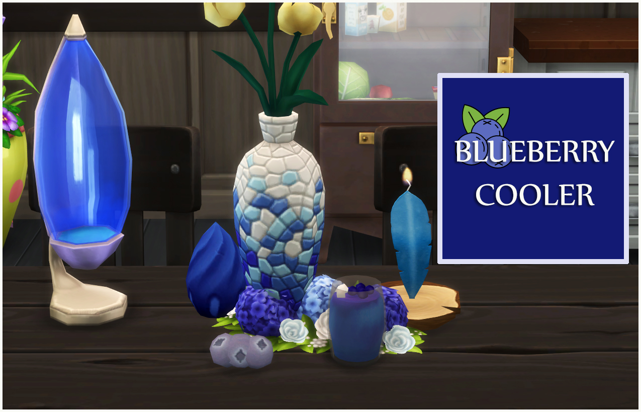 BLUEBERRY COOLER DRINK - NON ALCOHOLIC FRIDGE DRINK