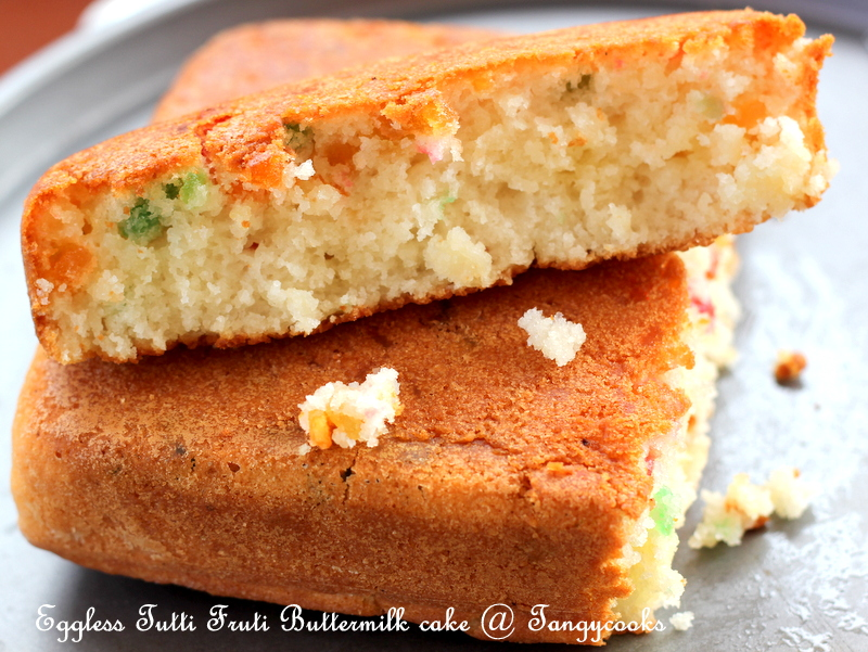Eggless Buttermilk Cake Recipe