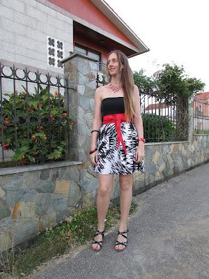 Vestido corto a partir de top
