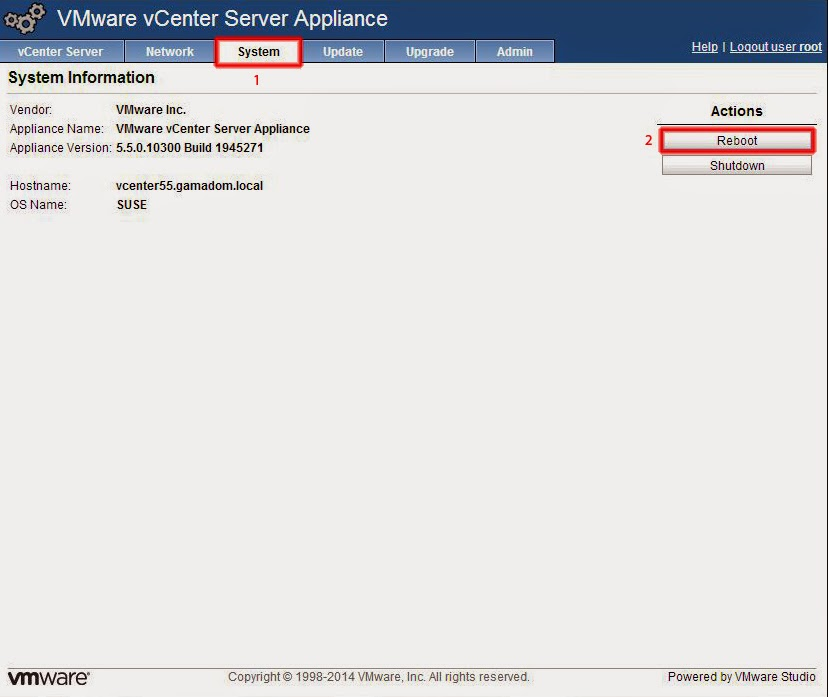 Ventana System VMware vCenter Server Appliance